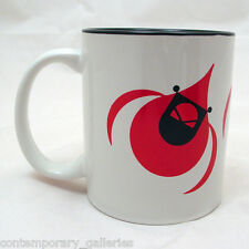 New Charley Harper Imprinted Red Cardinal on White Coffee Mug Cup Black Inside