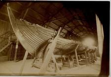 Norvège, bateau de Gokstad Vintage albumen print,Le bateau de Gokstad est un b