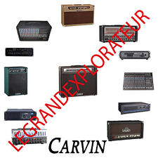 Ultimate  Carvin  Amplifier   Repair Service manual schematics    450 PDF on DVD