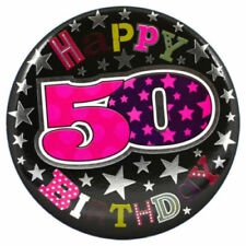50th Birthday Party Badges