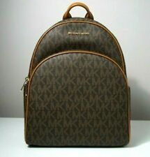 Michael Kors Women's Abbey Signature Brown Large Backpack