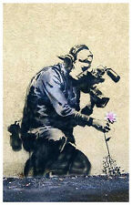 Banksy Flower Photographer Poster Art Print 11x17 Limited Edition