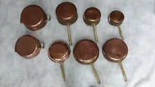 Copper saucepan set.
