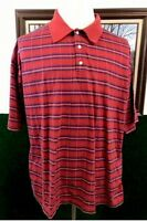 Alan Flusser Polo Shirt Golf Casual Red Blue 100% Mesmerized Cotton Men's XXL