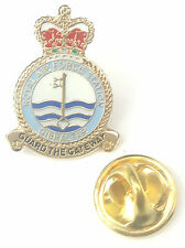 RAF Gibraltar Crest Enamel Lapel Pin Badge