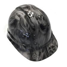 Hydro Dipped Hard Hat Light Grey No Evil Skulls W/ Free BRB TShirt