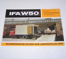 Prospekt / Broschüre DDR LKW IFA W 50 L/IKB Isothermkofferfahrzeug - Stand 1972!