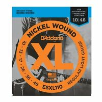 D'Addario Nickel Wound Electric Guitar Strings, Regular Light, Double Ball End