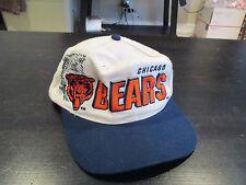 VINTAGE Chicago Bears Sports Specialties Snapback Hat Football 90 Laser Starter