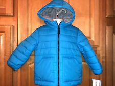 NWT CARTERS Infant Boys Fleece Lined Puffer Coat, 24 Months, Royal Blue, $74.00