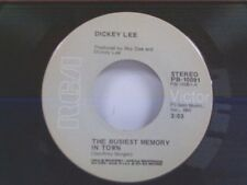 "DICKEY LEE ""THE BUSIEST MEMORY IN TOWN / A WAY TO GO ON"" 45 MINT"