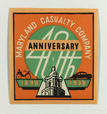 Poster Stamp / Cinderella - Maryland Casualty Company 40th Anniversary, 1938