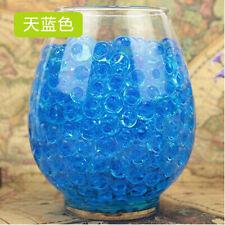 10 Bags Pearl Shaped Crystal Soil Water Beads Mud Grow Magic Balls [Blue]