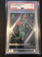 2017 Panini Spectra Jayson Tatum Rookie Card PSA 9 Mint Hot Celtics