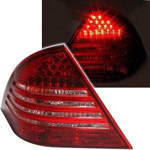 2 FEUX ARRIERE LED MERCEDES CLASSE C W203 4/2004 A 2/2007 BLANC ROUGE CRISTAL