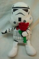 """Star Wars FUNNY STORM TROOPER W/ RED ROSE 7"""" Plush STUFFED ANIMAL Toy Galerie"""