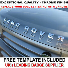 New Chrome 3D Self-adhesive Car Letters badge emblem sticker Spelling LAND ROVER