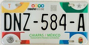 CHIAPAS MEXICO License plate Expired Graphic Background RINGS !!