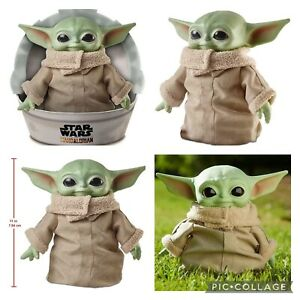 The Child 11-Inch Plush Baby Yoda Grogu Star Wars The Mandalorian Stuffed Doll