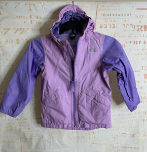 THE NORTH FACE DryVent Windbreaker Rain Jacket Hood Purple Girls Toddler 5