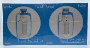 Kiinde Twist Pouch Direct-Pump Twist Cap Milk Food Storage Bags 80 Pouches