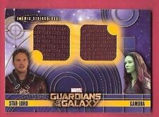 MARVEL GUARDIANS OF THE GALAXY CHRIS PRATT ZOE SALDANA RELIC CARD STAR LORD GAMO