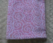 Luvable Friends Rose Flower Print Baby Blanket Pink White Floral Security Lovey