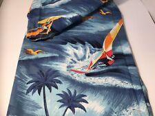 "2 Yard - ""Wind Surfing� - Fabric - Blue - Unmarked"