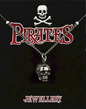 Skull Pewter Pendant On A Chain -  Pirates / Captain Jack Sparrow