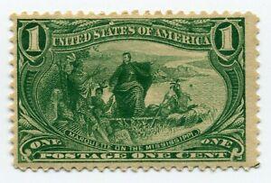US Stamp - Trans-Mississippi - Marquette on the Mississippi - Scott #285 MLH OG