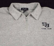 Sean John 1/4 Zip Gray Fleece Pullover XXL 2XL SC Logo EUC