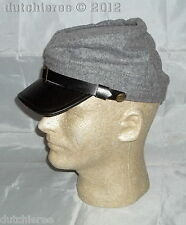 100% Wood Civil War Confederate Kepi Cap GRAY (X-Large) - Civil War/Costume