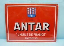 COBRA / TOLE PEINTE FACON PLAQUE EMAILLEE / ANTAR HUILE DE FRANCE