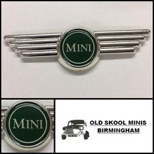 CLASSIC MINI GREEN BONNET/BOOT WING BADGE AUSTIN MORRIS COOPER ROVER 3P6