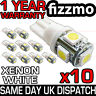 10x 5 SMD LED 501 T10 W5W PUSH WEDGE 360 HID XENON WHITE SIDE LIGHT BULBS UK