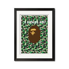 A Bathing Ape Camo Bape Logo Huge Poster Print
