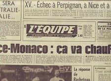 journal  l'equipe 19/09/77 FOOTBALL SAINT ETIENNE NANTES MOTO BOL D'OR LEON