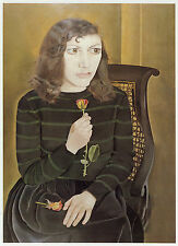 Girl with Roses, Lucian Freud vintage print in 11 x 14 inch mount SUPERB