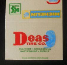 1960s? Deas Tire Co. Michelin Kelly Pascagoula Hattiesburg Mobile AL Gulfport MS