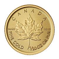 2015 1/20oz Canadian Gold Maple Leaf Coin .9999 Fine BU