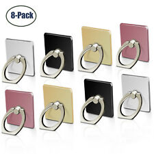 8-Pack Universal 360 Rotating Finger Ring Stand Holder For Cell Phone iPhone
