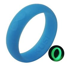 Silicone Wedding Ring Band for Women - Flexible Glow Rubber Rings Bands by KUSI