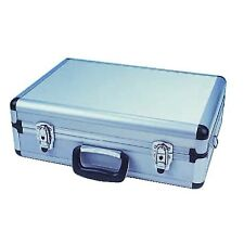 Portable Flight Case With Foam Interior Secure Luggage And Black Plastic Handle