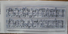 Kaisercraft Clear Stamp for Rubber Stamping MUSIC SCORE background stamp