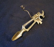 The Woodward Tool - Antique Corkscrew Bottle Opener Multitool Patented 1875