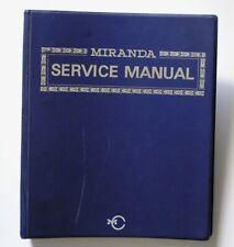 Miranda Sensomat RE Service & Repair Manual