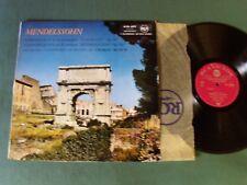 CHARLES MUNCH, orchestre BOSTON: MENDELSSOHN symphonies 4 & 5 LP RCA 630.489
