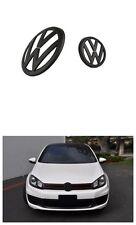 GRILLE & HATCH BADGE FOR VW VOLKSWAGEN GOLF MK6 GTI OR GOLF R MATTE BLACK