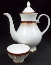 Royal Grafton MAJESTIC MAROON Mini Open Sugar Bowl + Coffee Pot GREAT CONDITION