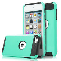 For iPod Touch 6th 5th Gen Hybrid 2-Piece HARD & SOFT RUBBER HIGH IMPACT Case